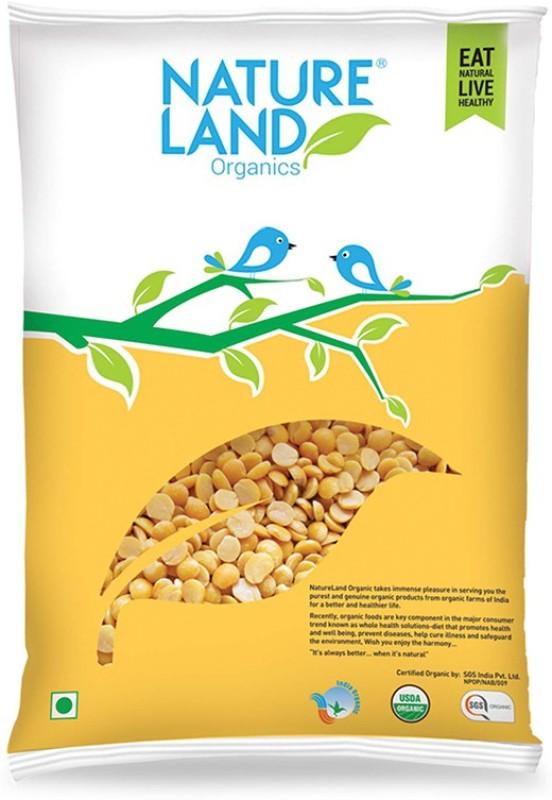 Natureland Organics Unpolished Yellow Chana Dal (Split)(1000 g)