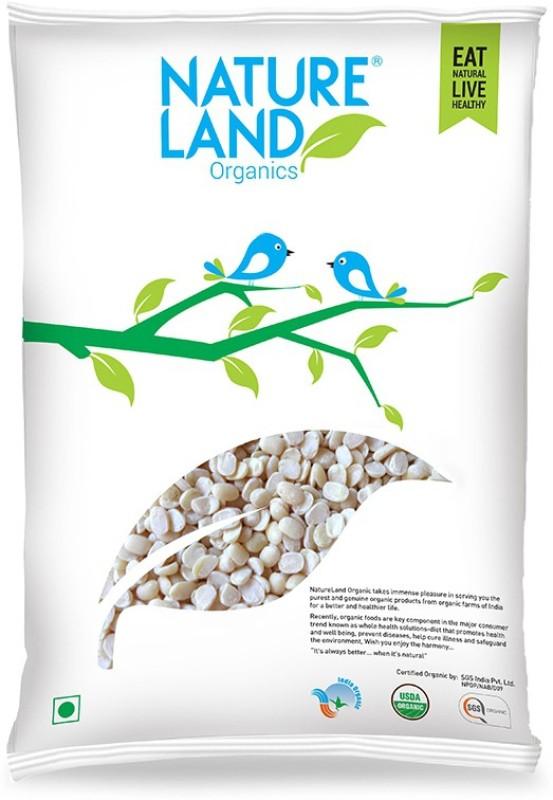 Natureland Organics Unpolished White Urad Dal (Split)(1000 g)