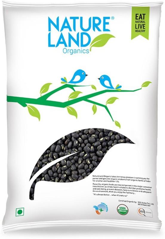 Natureland Organics Unpolished Black Urad Dal (Whole)(500 g)