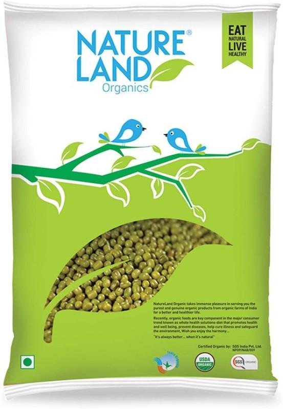 Natureland Organics Unpolished Green Moong Dal (Whole)(500 g)