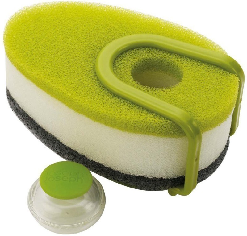 Swarish Set of 3 Soapy Scouring Sponge With Soap Dispensing Capsule Scrub Sponge(Medium, Pack of 3)