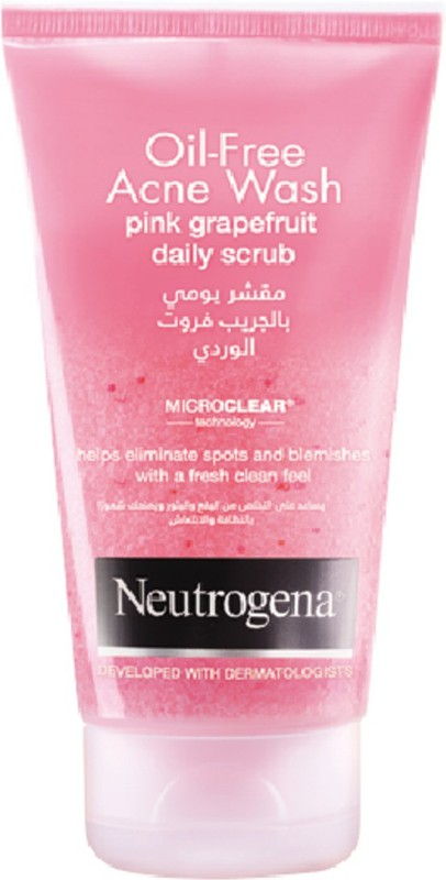 Neutrogena Oil-Free Acne Wash Pink Grapefruit Daily Scrub(150 ml)