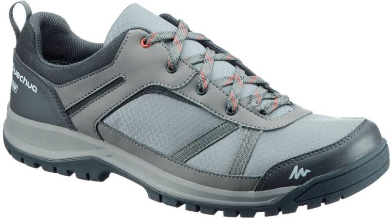 Quechua by Decathlon NH300 Hiking & Trekking Shoes For Men(Grey, Green)