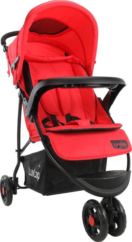 LuvLap Orbit Stroller Pram Stroller(Multi, Red)