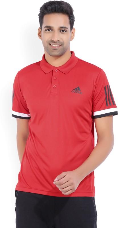 ADIDAS Solid Men Polo Neck Multicolor T-Shirt