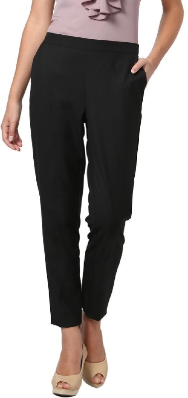 Allen Solly Regular Fit Women Black Trousers