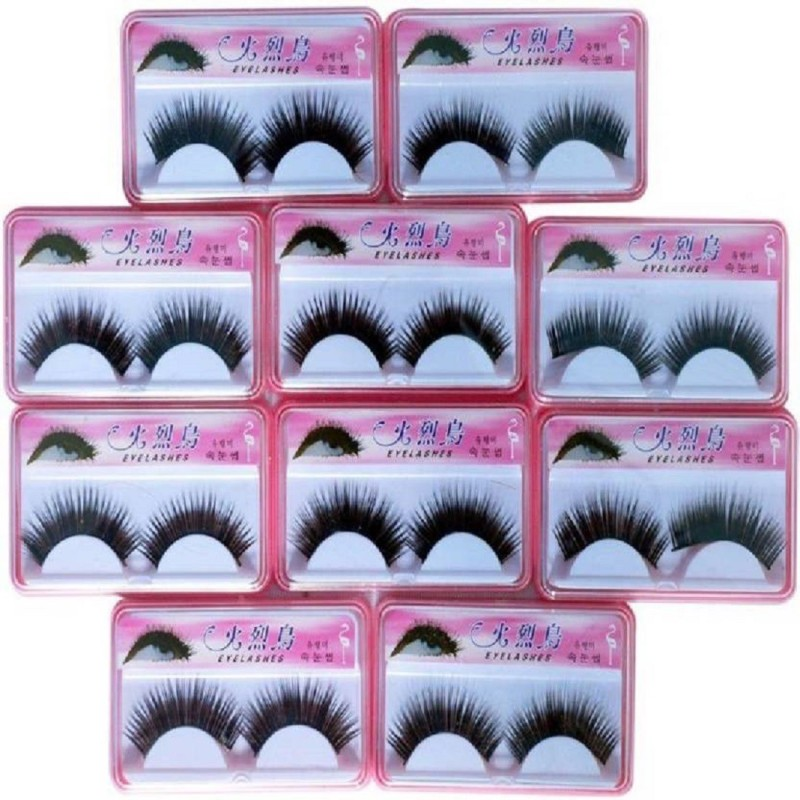 Shopeleven stiying eye lashes day and night (Pack of 10)(Pack of 10)