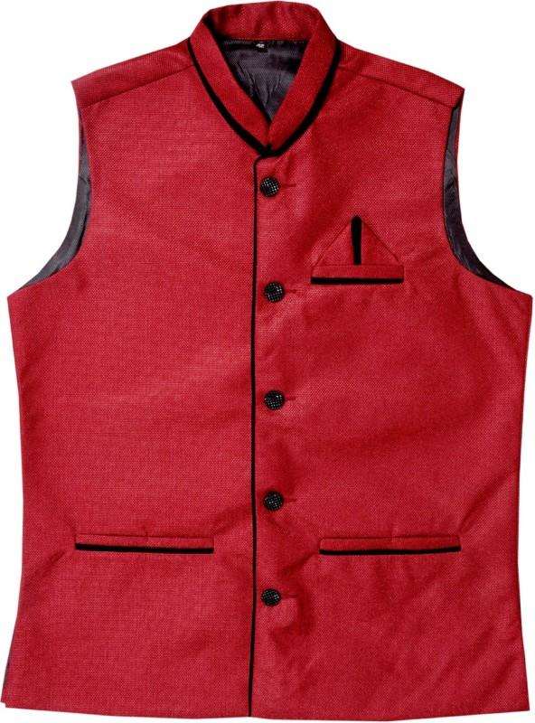 RiverHill Sleeveless Self Design Mens Jacket