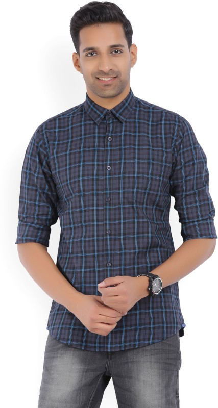 Allen Solly Mens Checkered Casual Blue, Grey Shirt