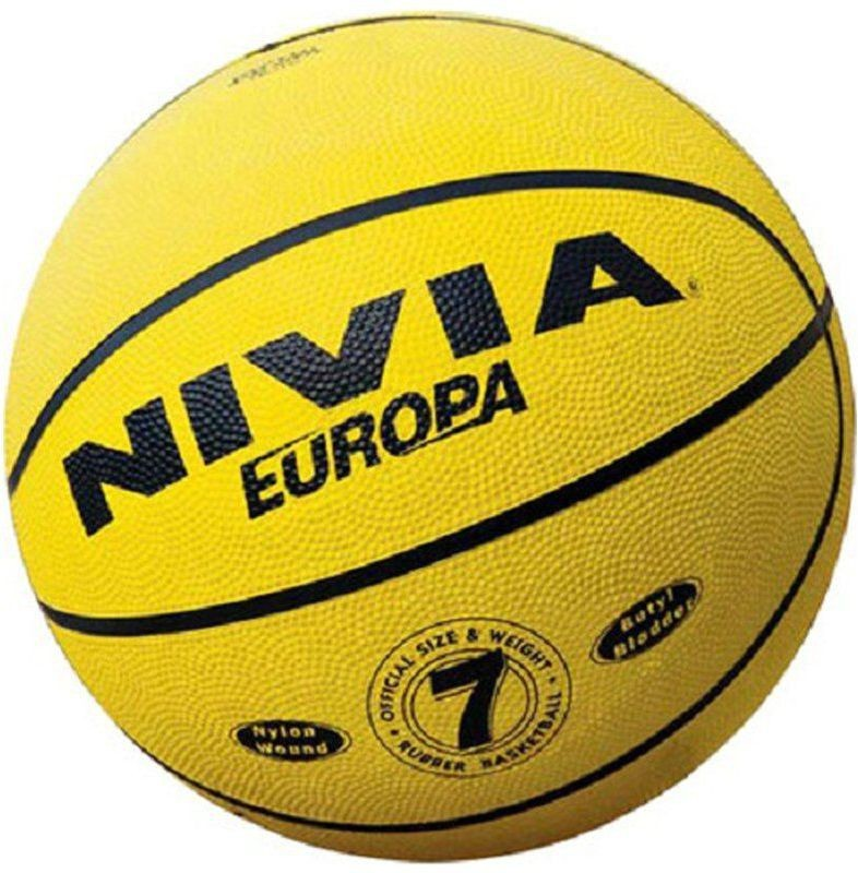 Nivia Basketball 7 Basketball - Size: 7(Pack of 1, Yellow)