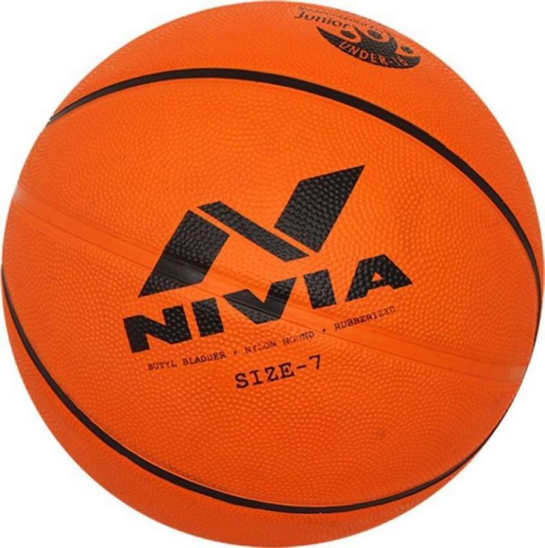 Nivia Basketball 6 Basketball - Size: 7(Pack of 1, Orange, Black)
