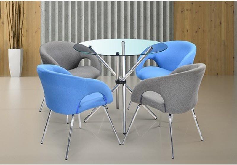 RoyalOak Sennate Metal Coffee Table(Finish Color - Silver)