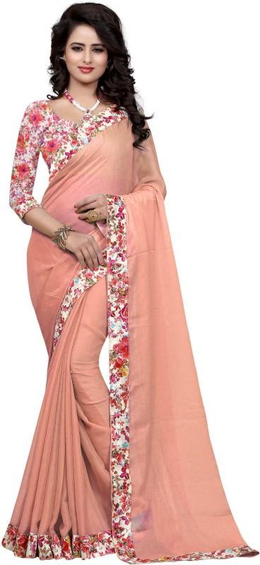 Sweetiepie Fashion Plain Fashion Jacquard Saree(Cream)