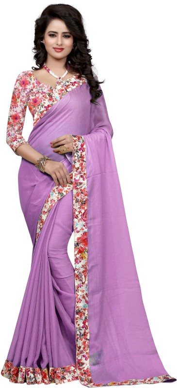 Sweetiepie Fashion Plain Fashion Jacquard Saree(Pink)