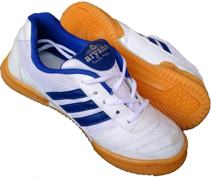 Aryans SMASH Badminton Shoes For Women(White, Blue)