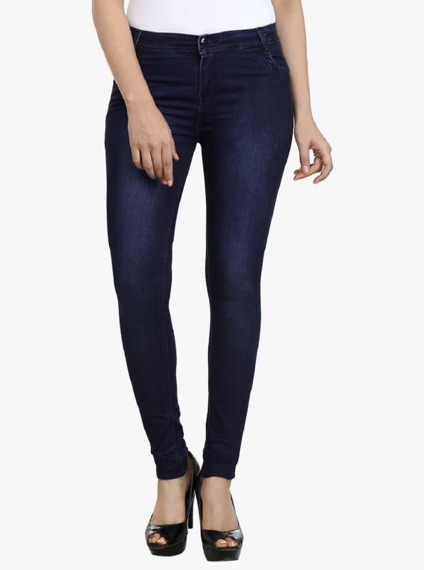 Ico Blue Star Slim Women Dark Blue Jeans