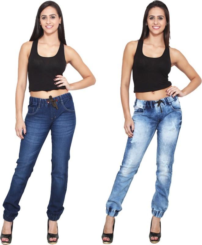 Rock Hudson Jogger Fit Women Multicolor Jeans(Pack of 2)