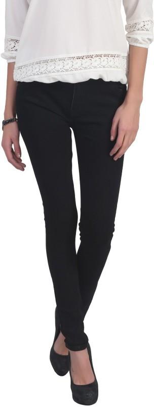 Ico Blue Star Skinny Women Black Jeans