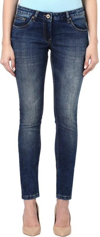 Park Avenue Skinny Women Dark Blue Jeans