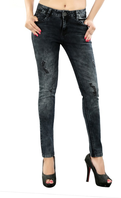 Fck-3 Skinny Women Black Jeans
