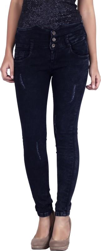 Bat Regular Women Black Jeans