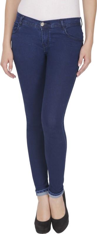 NJ Skinny Women Dark Blue Jeans