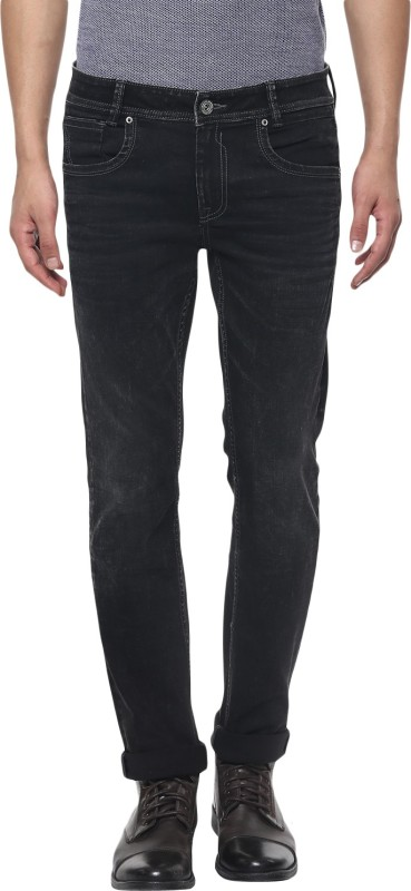 Mufti SUPER SLIM Mens Black Jeans