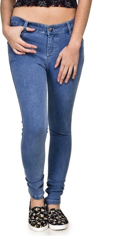 buttun Slim Women Blue Jeans