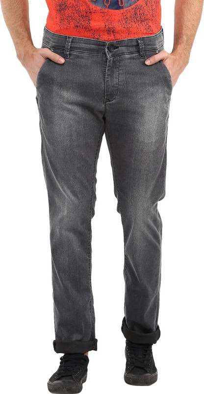 Spykar Slim Mens Black Jeans