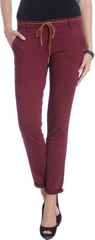 Only Slim Women Maroon Jeans