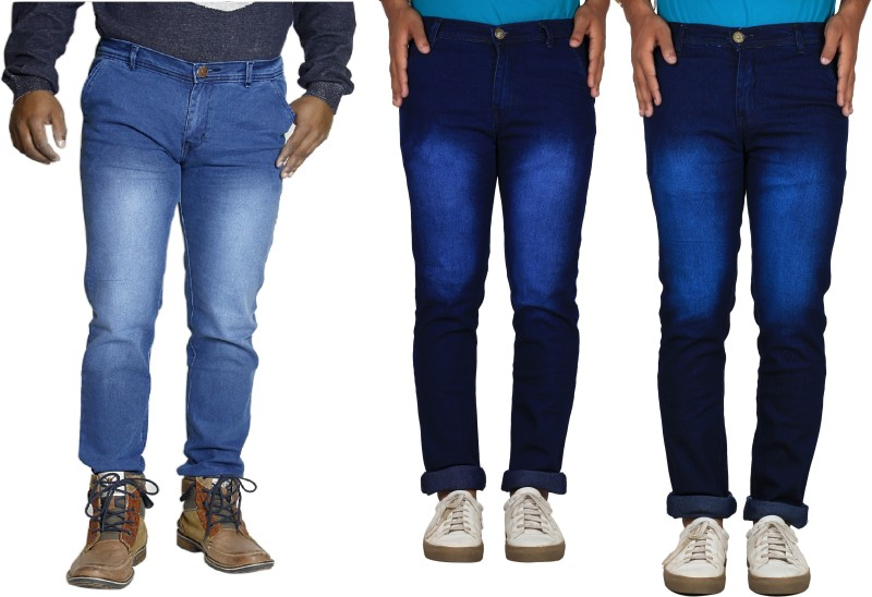 TYCON Skinny Men's Multicolor Jeans(Pack of 3)