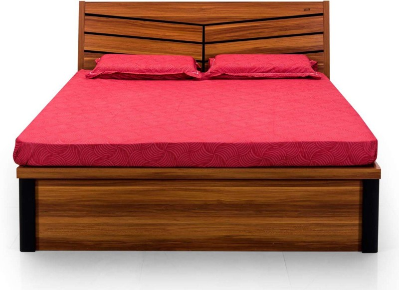 RoyalOak Iris Engineered Wood Queen Bed With Storage(Finish Color - Natural)