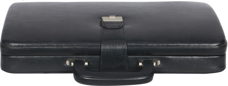 OBANI Genuine Leather Briefcase Medium Briefcase - For Men & Women(Black)