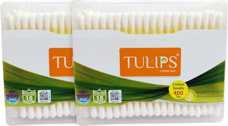 Tulips Cotton Buds 200 Sticks * 2jar = 400 buds(400 Units)