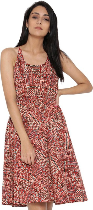 Jaipur Kurti Women Fit and Flare White Dress