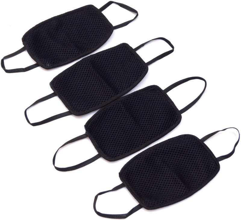 Healthllave Pollution Mask   Dust Mask   Safety Mask   Adjustable Strap   Allergy   Cycling   Running   Hiking   Construction (Pack of 4) Elevation Training Mask(Medium)
