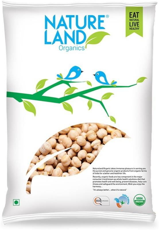 Natureland Organics White Kabuli Chana (Whole)(500 g)