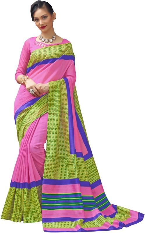 RK Fashions Plain Fashion Cotton Silk Saree(Multicolor)