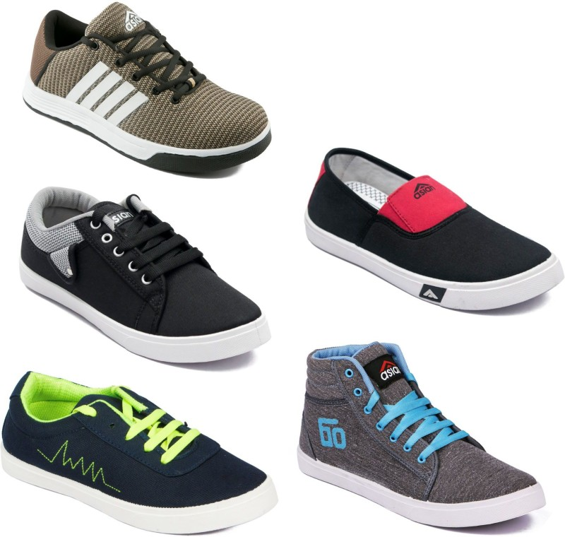 Asian Men Casual & Running Shoes Combo Pack of 5 Casuals For Men(Multicolor)