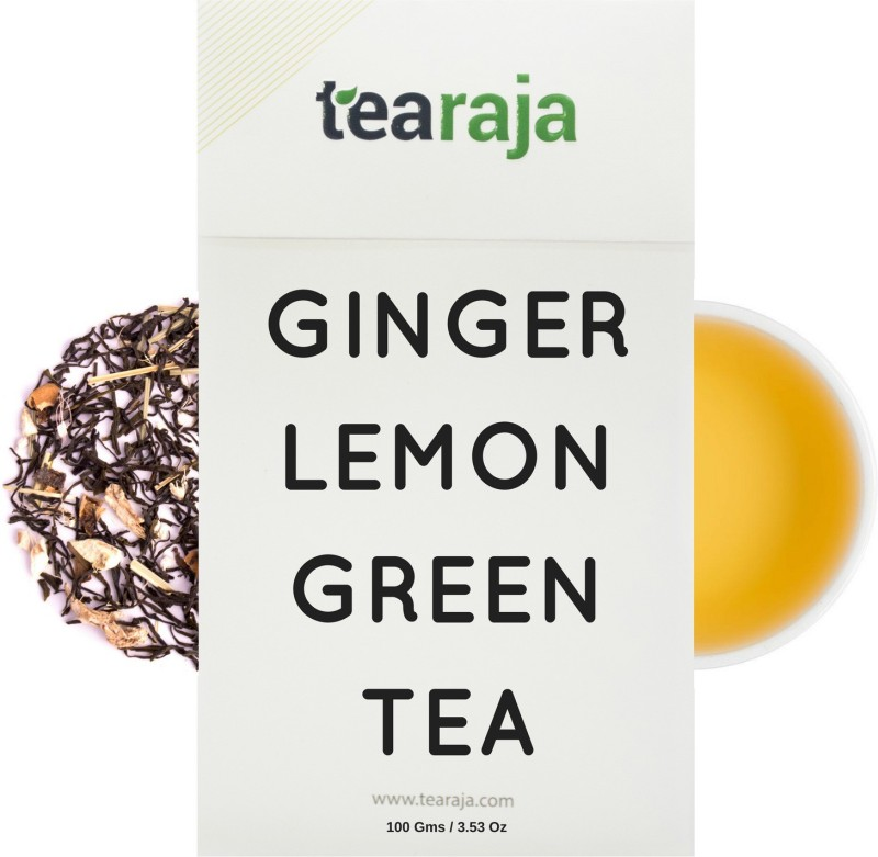 Tearaja Ginger Lemon Green Tea Ginger, Lemon Herbal Tea(100 g, Vacuum Pack)