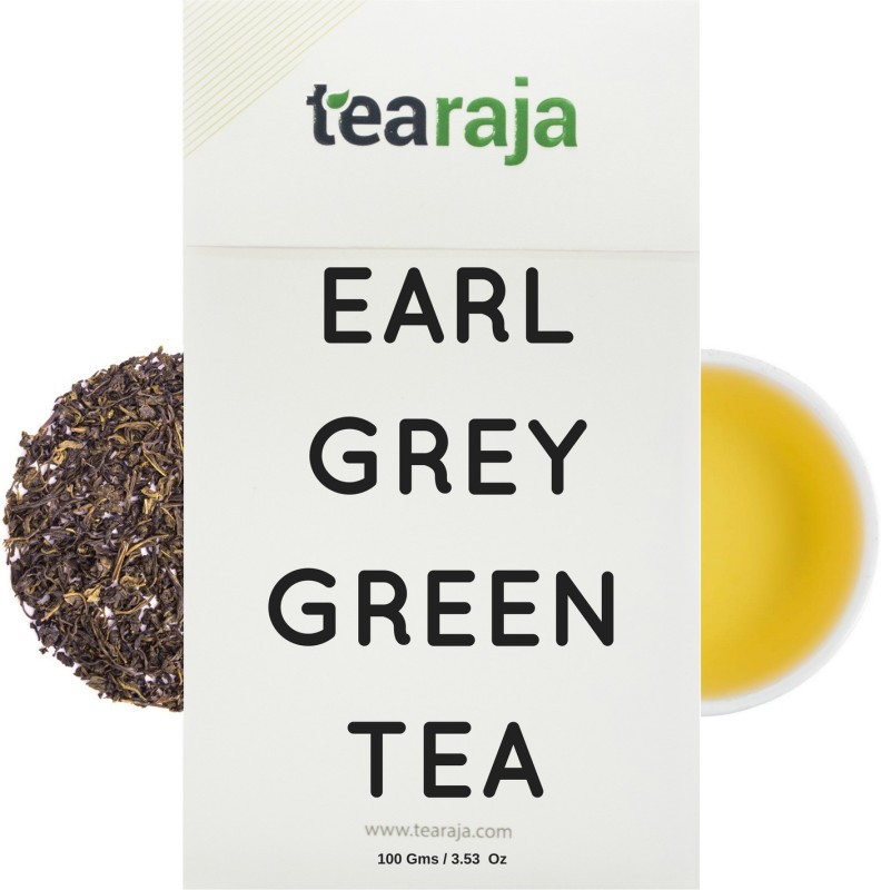 Tearaja Earl Grey Green Tea Bergamot Orange Green Tea(100 g, Vacuum Pack)
