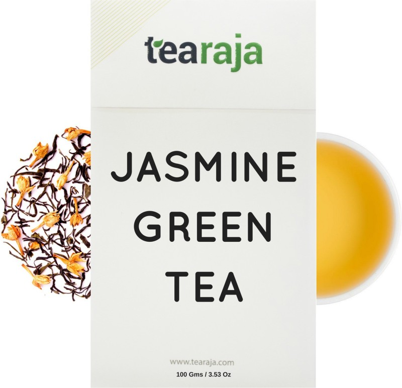 Tearaja Jasmine Blossom Green Tea Made with 100% Natural Jasmine Jasmine Tea(100 g, Vacuum Pack)