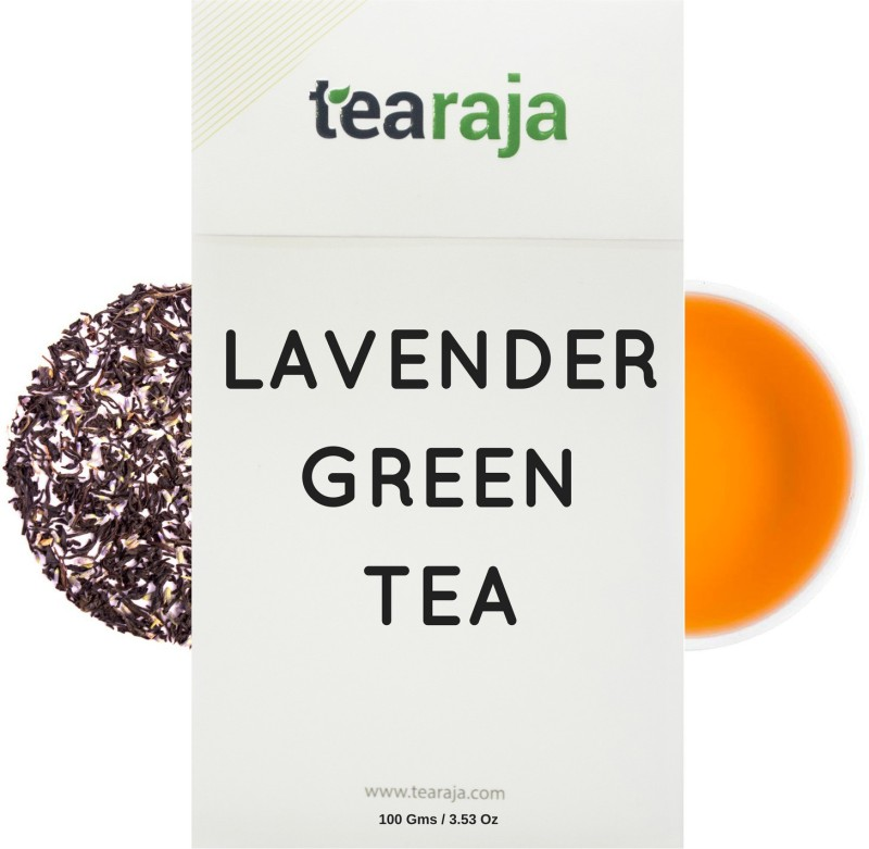 Tearaja Lavender Green Tea Made with 100% Natural Lavender Herbal Tea(100 g, Vacuum Pack)