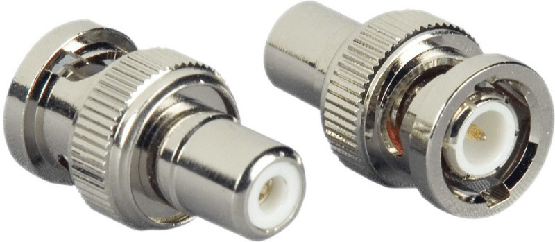 cognant BNC to RCA Connector + RCA Wire 5mtr for Audio and Video Wire Connector(Multicolor, Pack of 2)