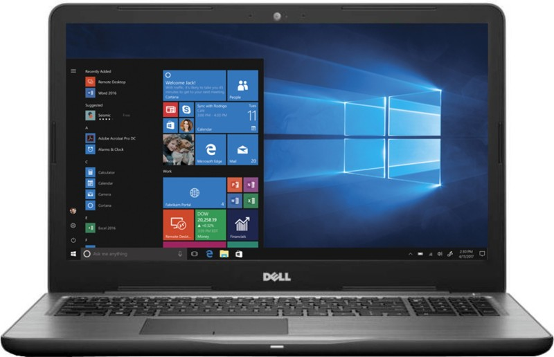 Dell Inspiron 5000 Core i5 7th Gen - (4 GB/1 TB HDD/Windows 10 Home/2 GB Graphics) 5567 Laptop(15.6 inch, Black, 2.36 kg, With MS Office)