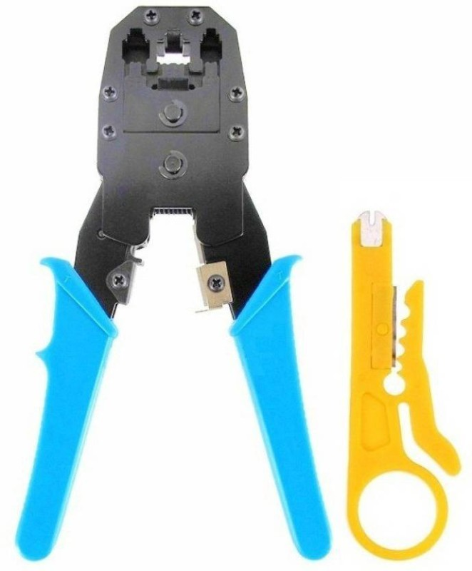 ProDot cc5 High Quality Multifunction 3 in 1 Modular Crimping Tool Cable Wire Cutter Stripper Plier for Cat5 Cat5e RJ45 RJ1 Telephone Electric Wire Ethernet Network LAN ADSL Manual Crimper Manual Crimper