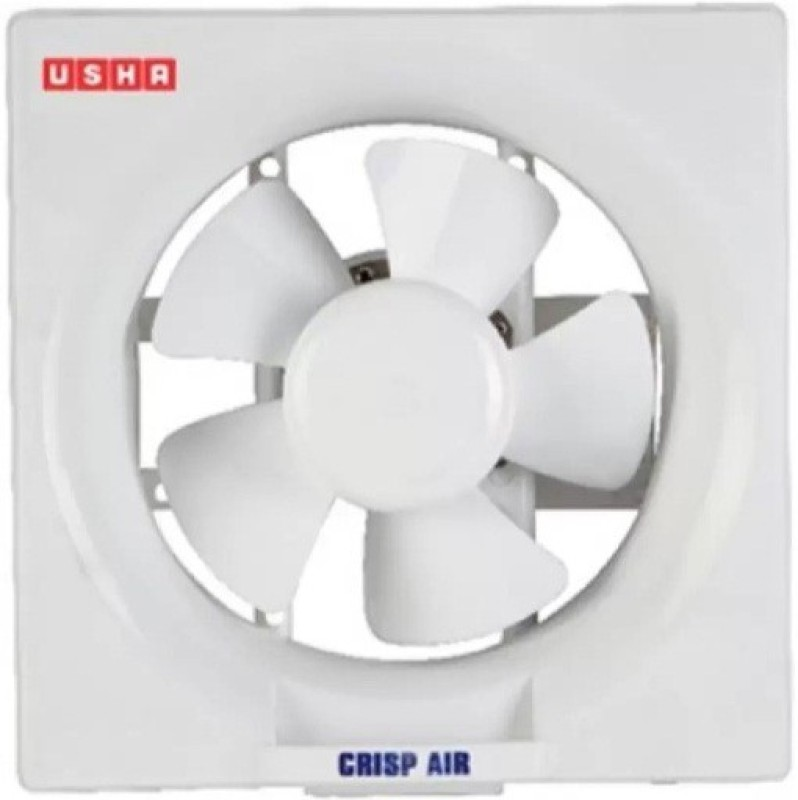 Usha Crisp Air 250 mm 5 Blade Exhaust Fan(white)