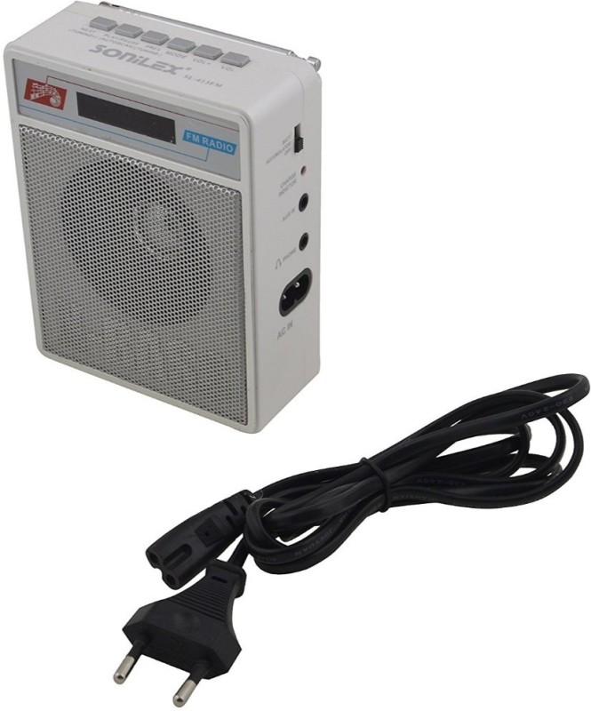 Ae Zone Portable FM Radio with USBSD Player (White) FM Radio(White)