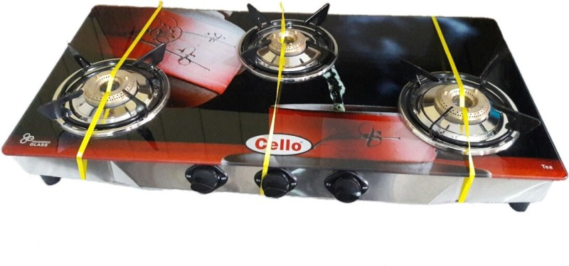 Cello Tea Glass, Stainless Steel Manual Gas Stove(3 Burners)