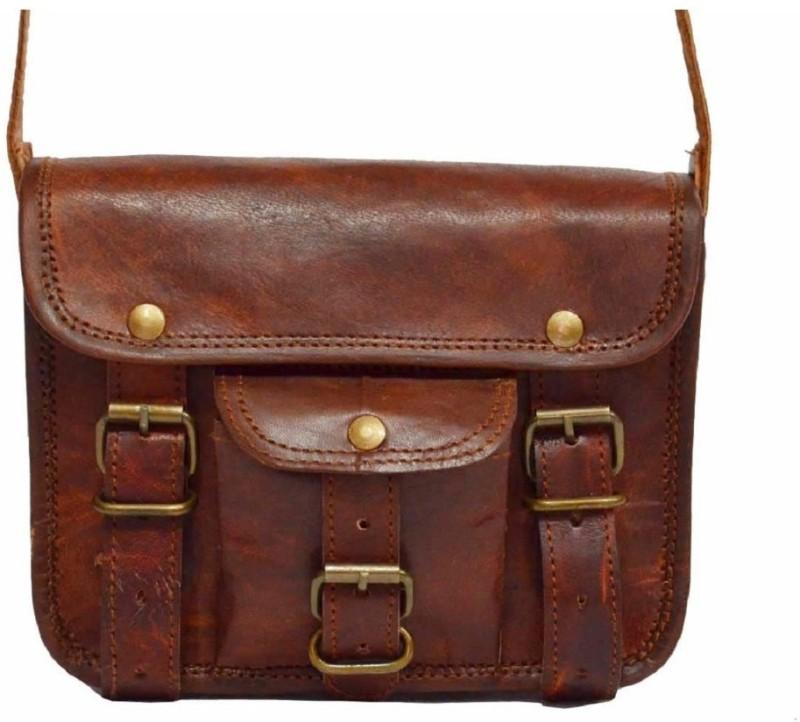 SR MART Men & Women Brown Messenger Bag